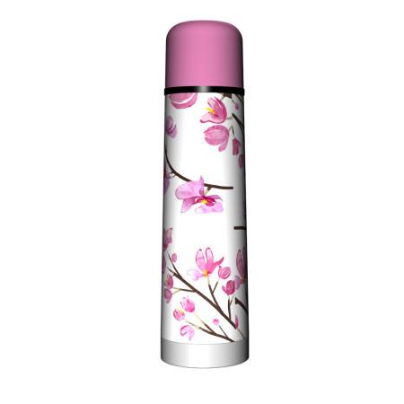 Termo 750 ml Diseño Flor Rosa
