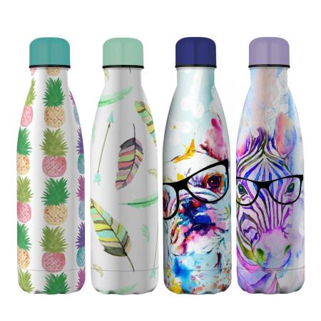 Botella térmica 500 ml acero inoxidable diseños