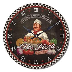 Reloj de pared Diseño Pizza
