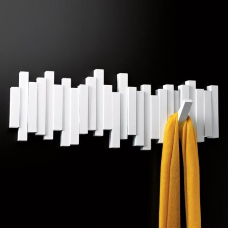 Perchero pared Umbra Sticks x5 Blanco