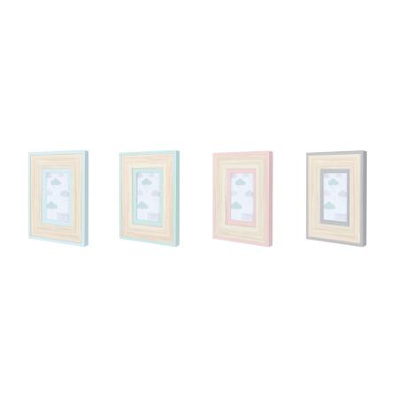 Portarretratos 10×15 pastel doble detalle