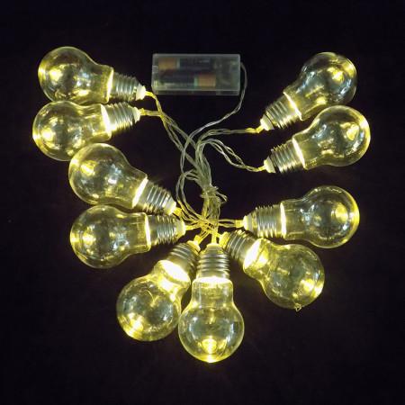 Guirnarlda de luces x10 bombitas 9×5 cm
