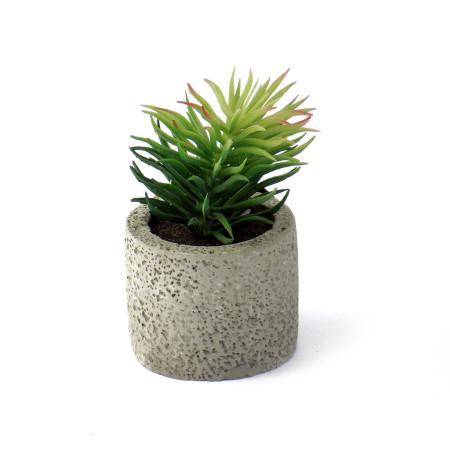 Maceta decorativa ramitas verdes