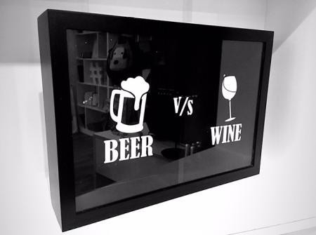 Caja de madera beer vs wine