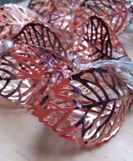 guirnalda hojas cobre