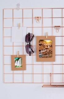 Rejilla organizadora dorada + mini palillos