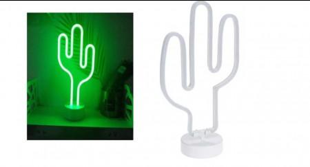 Lámpara neón cactus 36cm