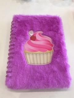 Cuaderno peludito cup cake
