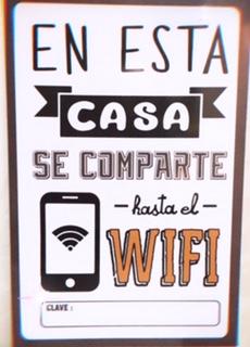 Cartel wifi