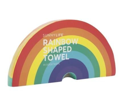 Toalla en forma de arcoiris