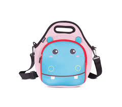 Lunchera infantil Brio-diseño hipopótamo