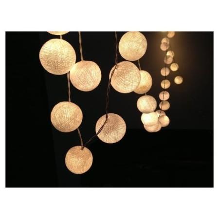 Guirnalda de luces x10 blancas de 6 cm