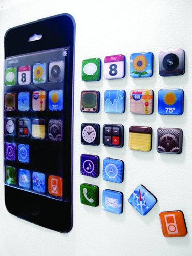Set de imanes iconos iphone
